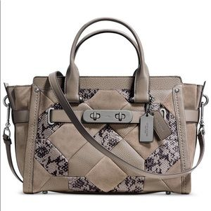 Coach Swagger Patchwork Leather Exotic Bag